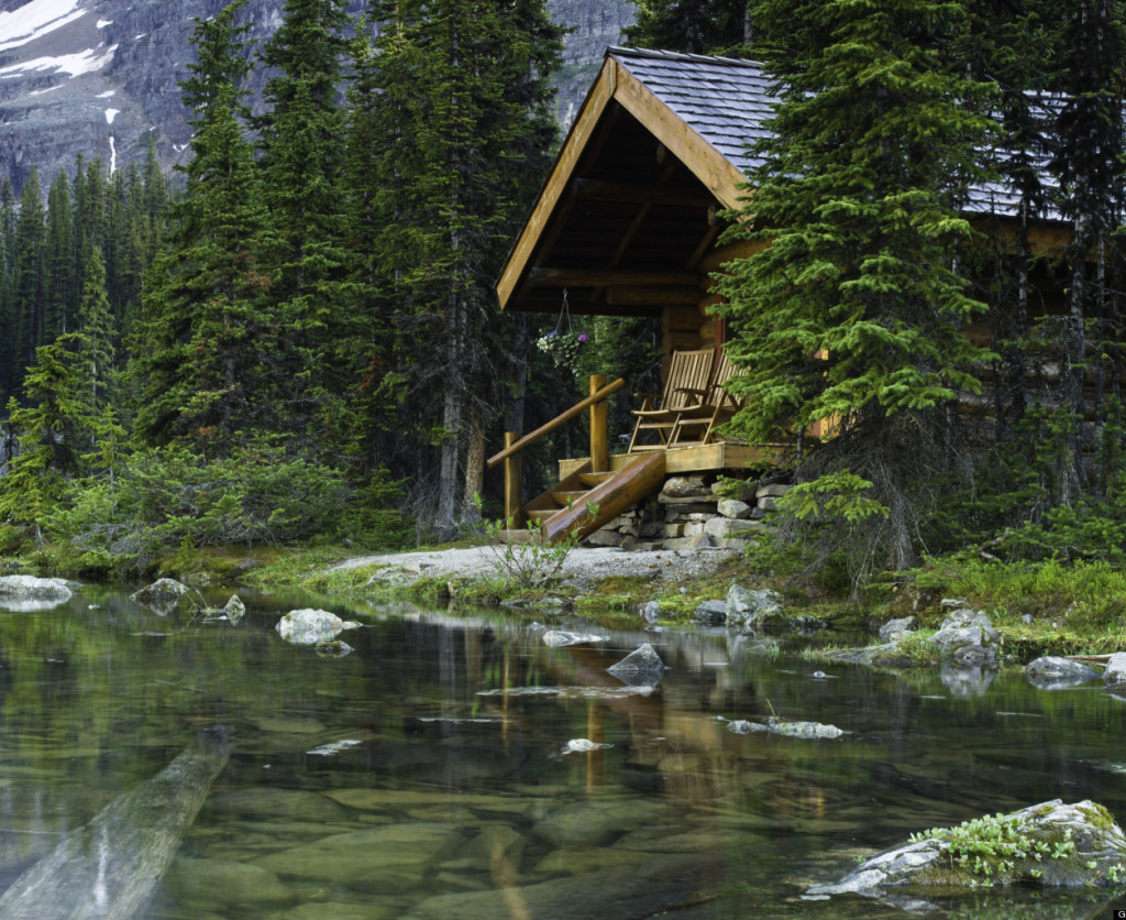 Log Cabin at Lake O'Hara, Canada