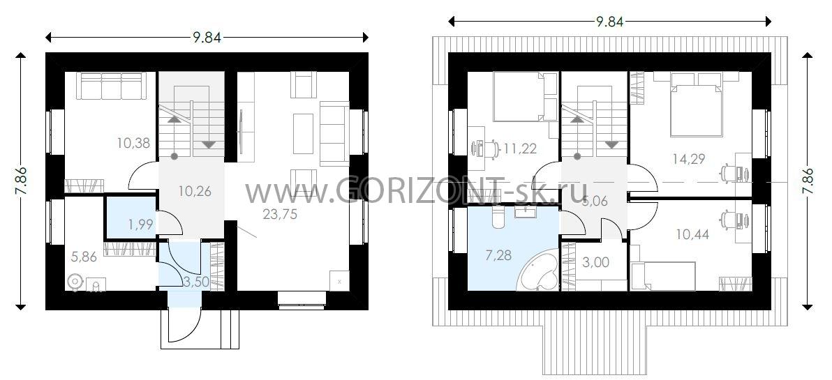 Дом ГД-107 план