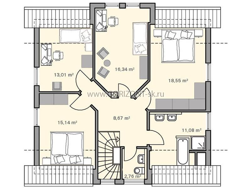 Дом Освало план