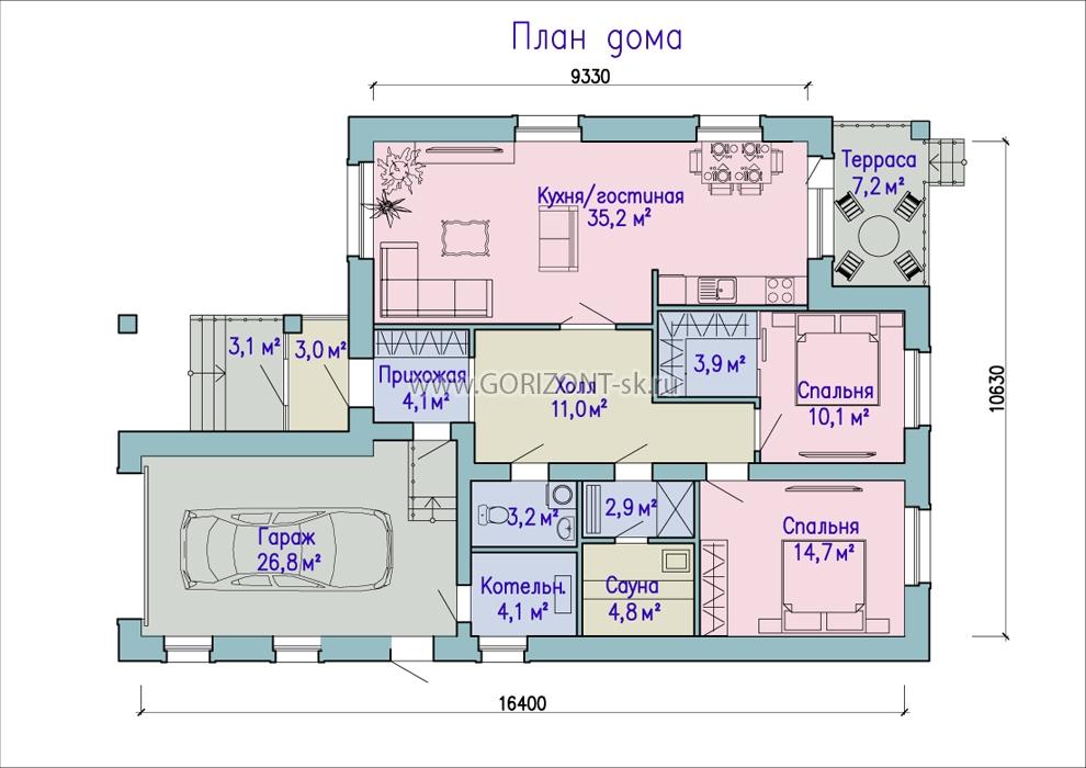 Дом Прованс план