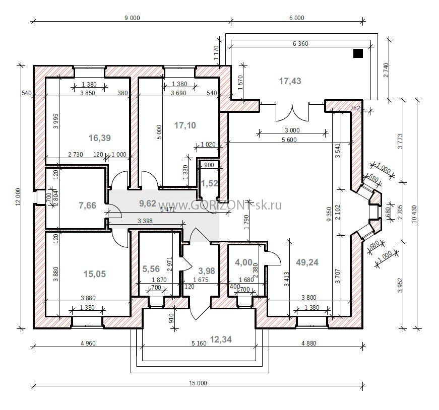 Дом Дерби план