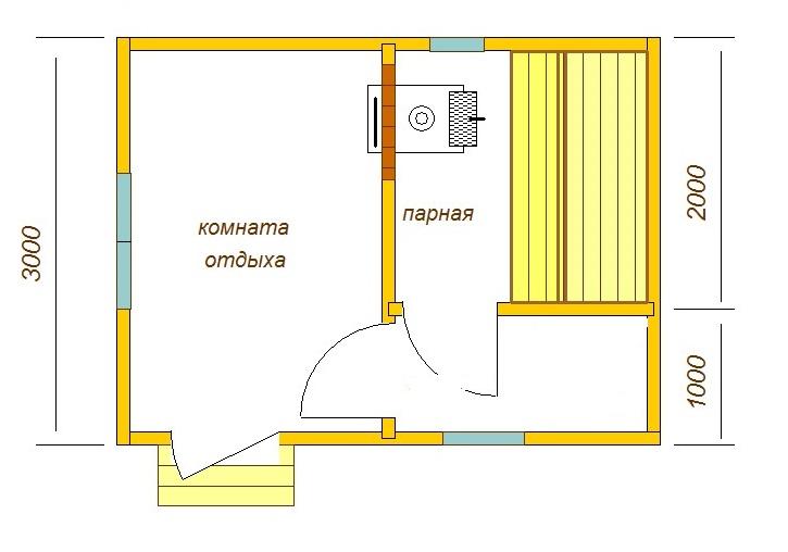 Баня 3*3 план