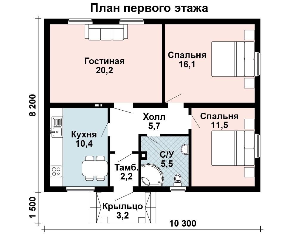 Дом Гармония план