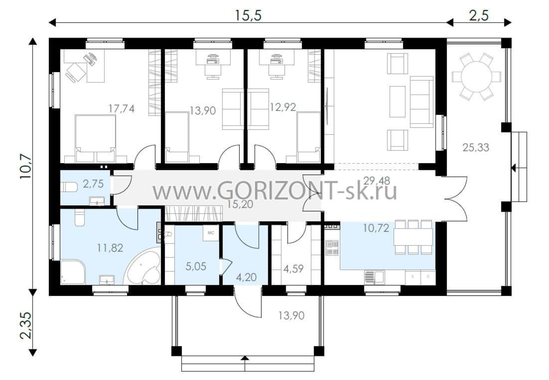 Дом Парма план