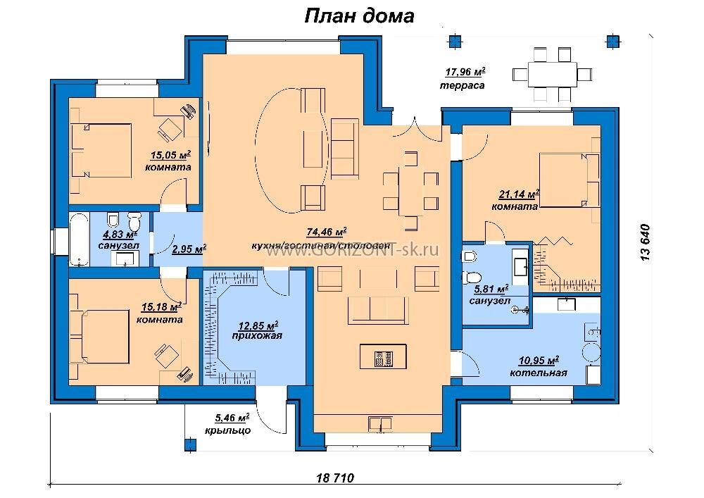 Дом Тримваль план
