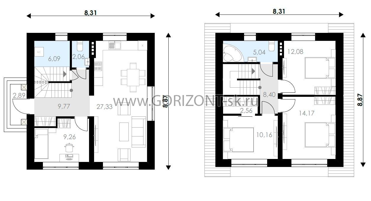 Дом ГД-103 план