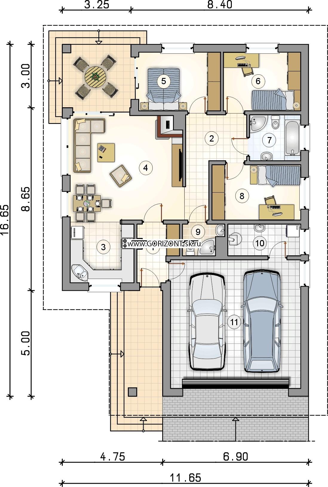 Дом Монтана план
