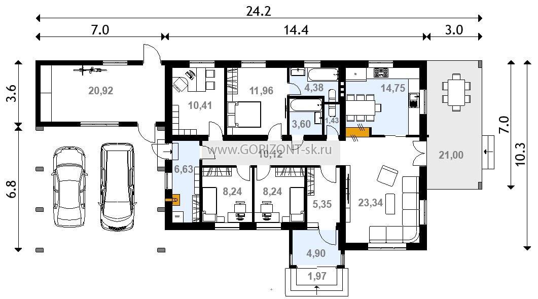 Дом Крема план