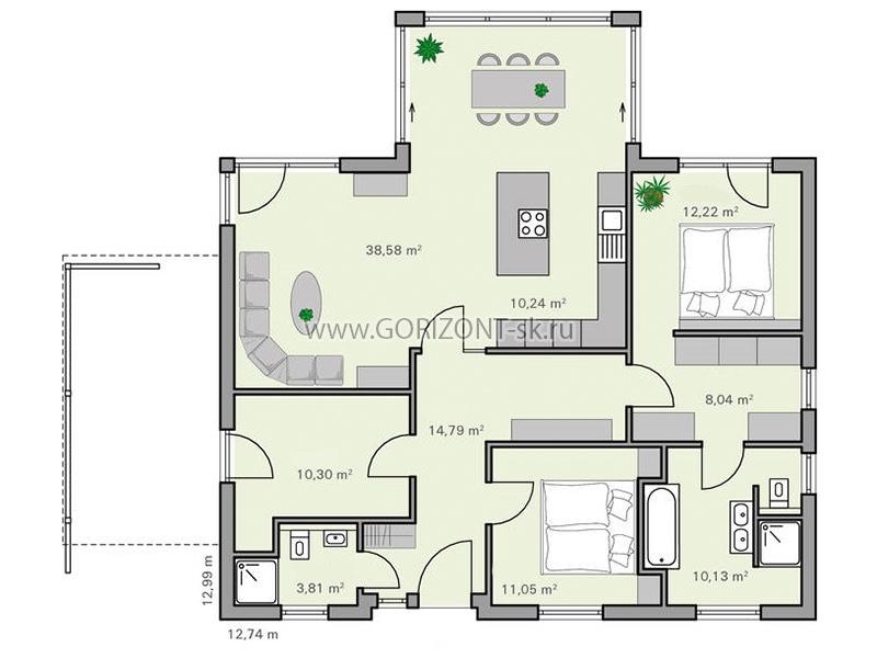 Дом Ренар план
