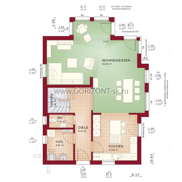 Дом Церебра план