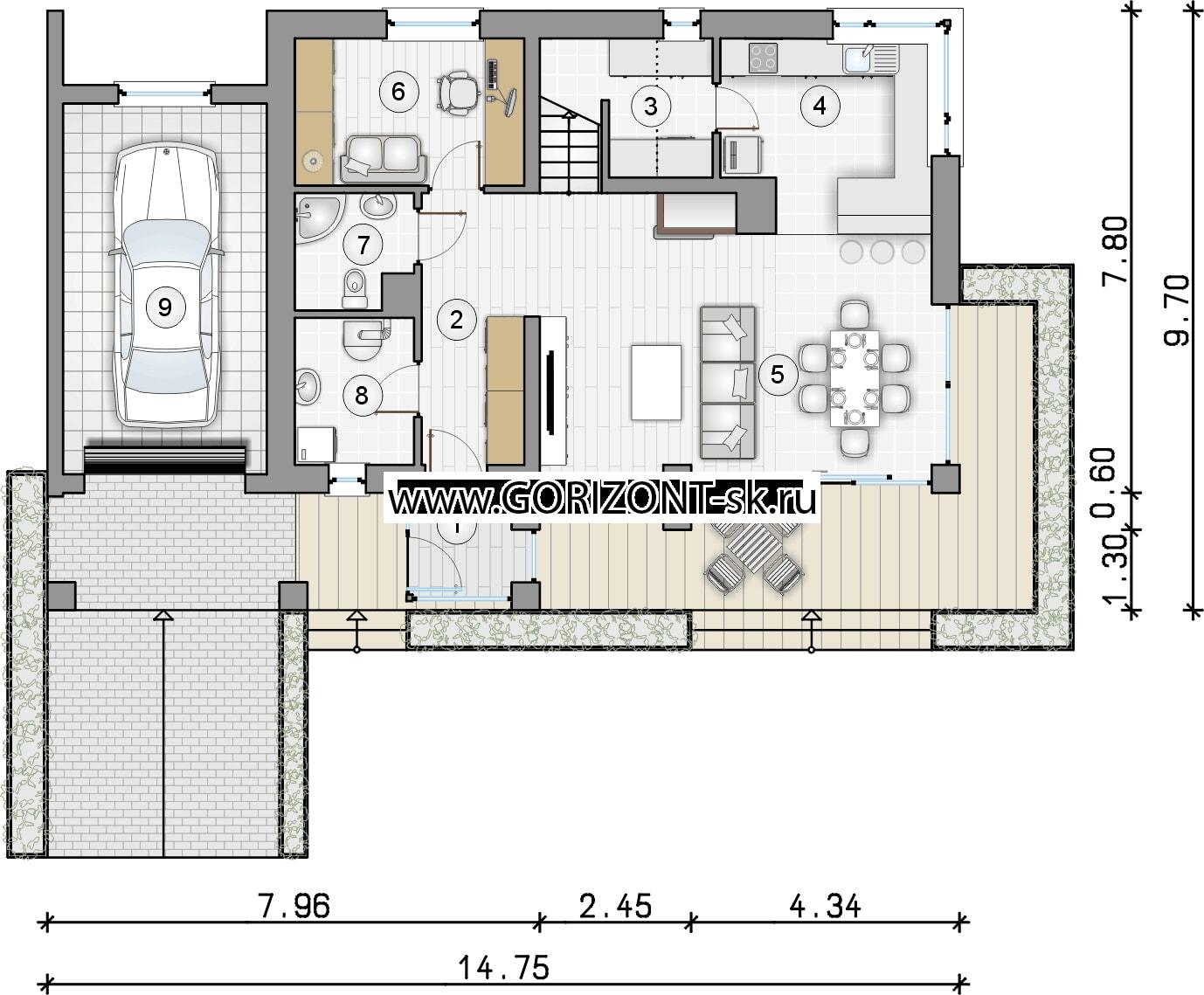Дом Паласо план