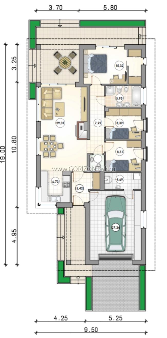 Дом Лонгар план