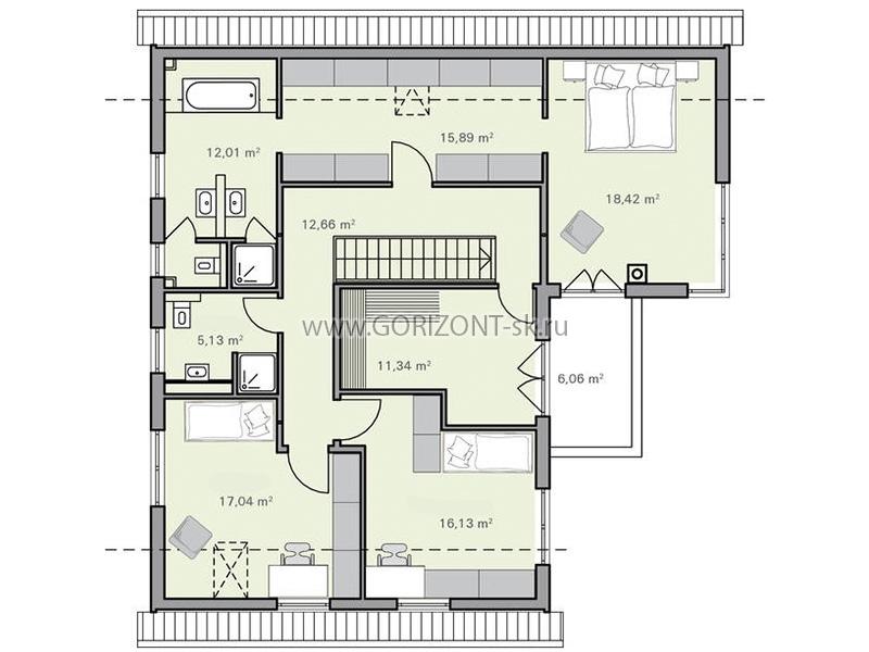 Дом Нельсен план