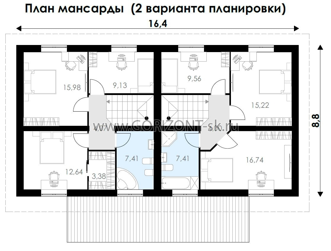 Дом Тандем план