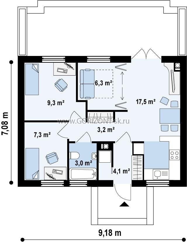 Дом Рико план